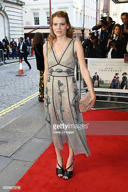 Emma Greenwell attends the UK premiere of Love and Friendship at The Curzon Mayfair on May 24 2016 in London England