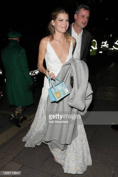 Emma Greenwell attends the Vogue x Tiffany Fashion Film after party for the EE British Academy Film Awards 2020 at Annabel's on February 02 2020 in...