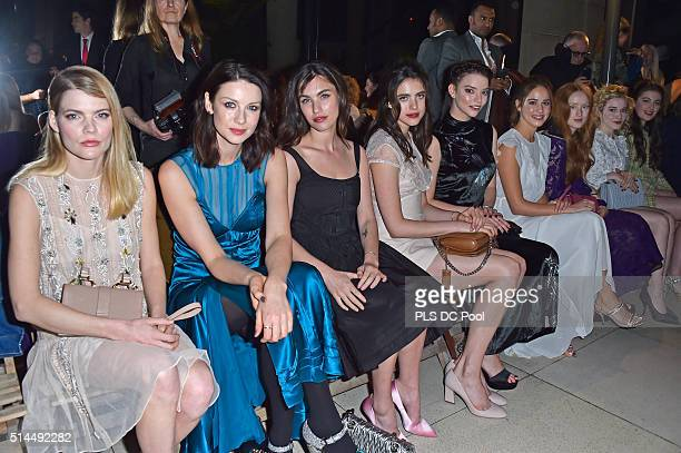 Emma Greenwell Caitriona Balfe Rainey Qualley Margaret Qualley Anya Taylor Joy Matilda Lutz India Salvor Menuez Julia Garner and Millie Brady attend...