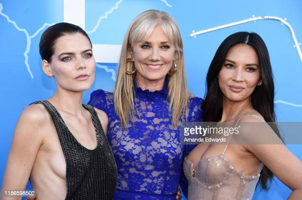 Emma Greenwell Joely Richardson and Olivia Munn arrive at the LA Premiere of Starz's The Rook at The Getty Museum on June 17 2019 in Los Angeles...
