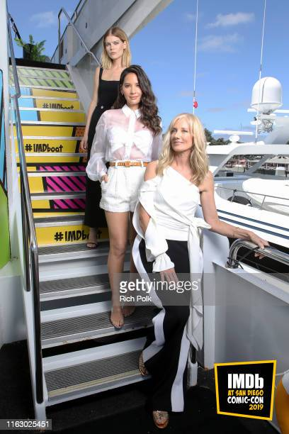 Emma Greenwell Olivia Munn and Joely Richardson attend the #IMDboat at San Diego ComicCon 2019 Day Two at the IMDb Yacht on July 19 2019 in San Diego...