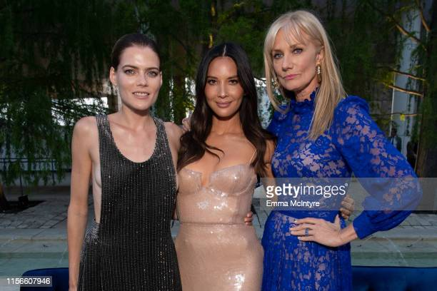 Emma Greenwell Olivia Munn and Joely Richardson attend the LA Premiere of Starz's The Rook at The Getty Museum on June 17 2019 in Los Angeles...