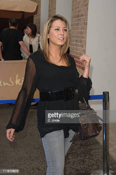 Emma Greenwood during Global Angels Step UP Campaign Outside Arrivals at The Gymnasium Pancras Road in London Great Britain