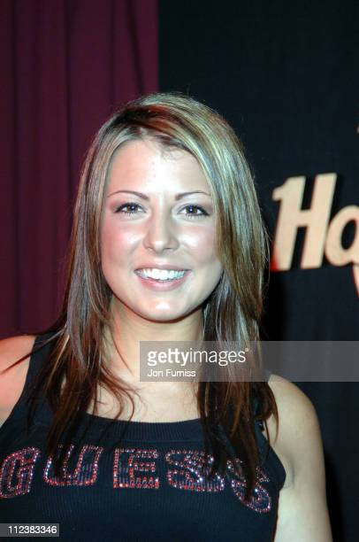 Emma Greenwood during Hard Rock Cafe London Reopening Inside at Hard Rock Cafe in London Great Britain
