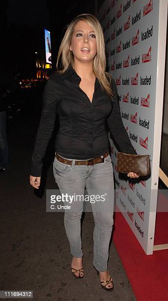 Emma Greenwood during Loaded's Sexiest Singles Party Outside arrivals at The Play Room in London Great Britain