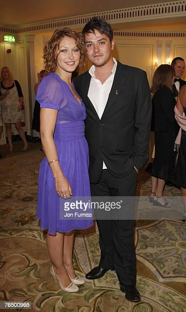Emma Griffiths and Matt Willis attend the TV Quick and TV Choice Awards at the Dorchester Hotel on September 03 2007 in London