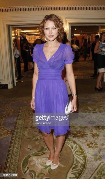 Emma Griffiths attends the TV Quick and TV Choice Awards at the Dorchester Hotel on September 03 2007 in London