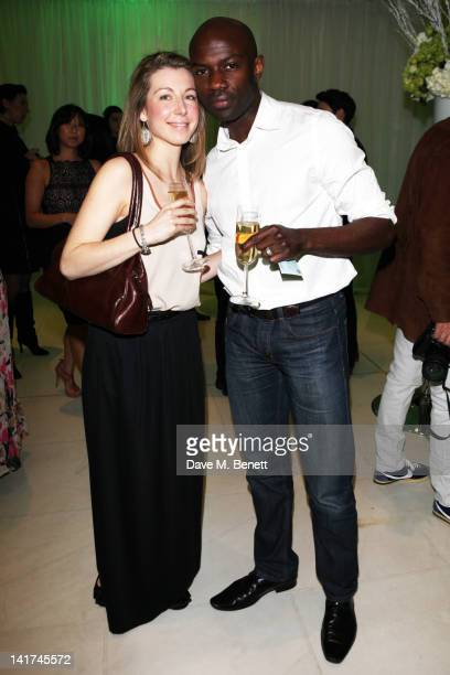 Emma Gyasi and David Gyasi attend the English National Ballet preperformance party to celebrate their new season honoring the legacy of Ballet Russes...