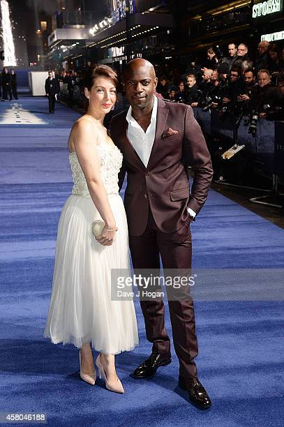 Emma Gyasi and David Gyasi attend the European premiere of Interstellar at Odeon Leicester Square on October 29 2014 in London England