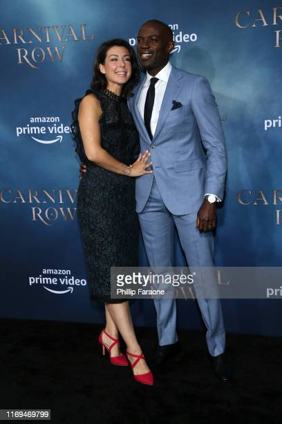 Emma Gyasi and David Gyasi attend the LA premiere of Amazon's Carnival Row at TCL Chinese Theatre on August 21 2019 in Hollywood California
