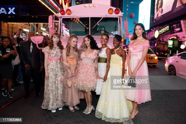 Emma Harvey Maggie Budzyna Melanie Martinez Megan Gage Zinnett Hendrix and Zión Moreno attend the Melanie Martinez K12 Film Premiere at AMC Empire 25...