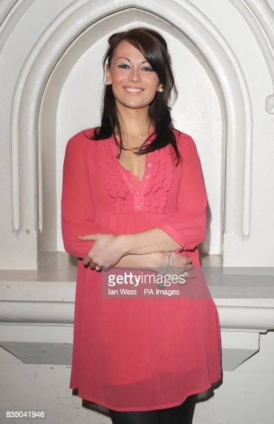 Emma Hatton poses for pictures at photocall to launch new musical Dreamboats and Petticoats at St Marks Church in Marylebone London
