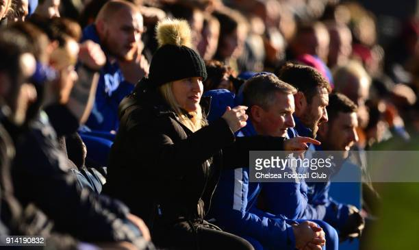 Emma Hayes manager of Chelsea during a FA Women's Cup between Chelsea and London Bees at The Hive on February 04 2018 in Kingston upon Thames England