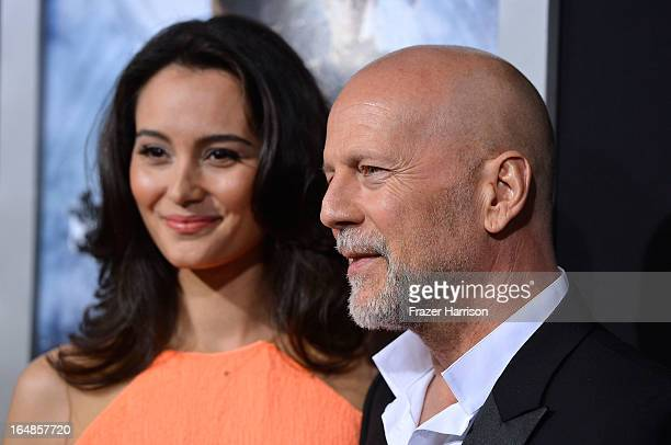 """Emma Heming and actor Bruce Willis arrive at the Premiere of Paramount Pictures' """"G.I. Joe: Retaliation"""" at TCL Chinese Theatre on March 28, 2013 in..."""