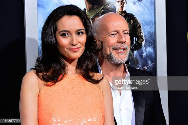 Emma Heming and actor Bruce Willis arrive at the Premiere of Paramount Pictures' GI Joe Retaliation at TCL Chinese Theatre on March 28 2013 in...