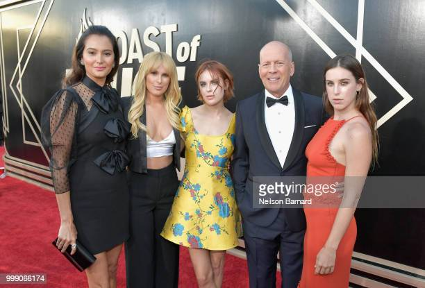 Emma Heming Rumer Willis Tallulah Willis Bruce Willis and Scout Willis attend the Comedy Central Roast of Bruce Willis at Hollywood Palladium on July...
