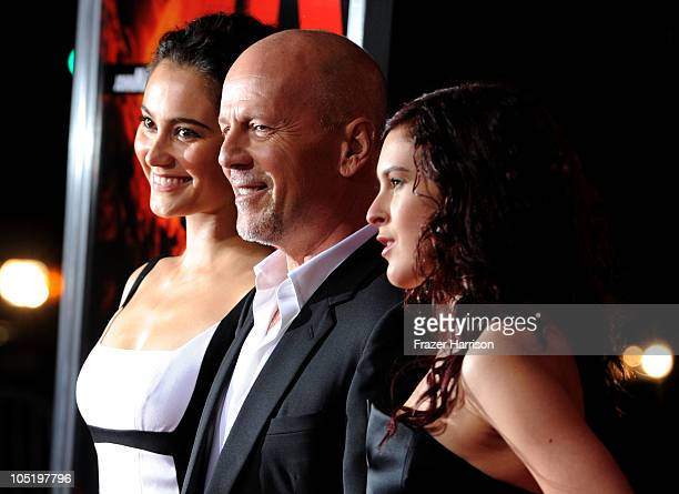 Emma Heming wife of actor Bruce Willis and daughter Rumer Willis arrives at a special screening of Summit Entertainment's 'RED' at Grauman's Chinese...