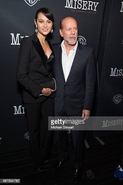 Emma Heming Willis and actor Bruce Willis attend the Misery Broadway opening night after party at TAO Downtown on November 15 2015 in New York City