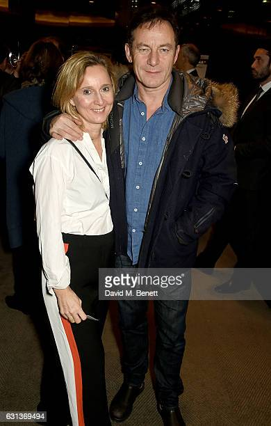 Emma Hewitt and Jason Isaacs attend the Netflix special screening and reception of The White Helmets hosted by The Clooney Foundation For Justice...