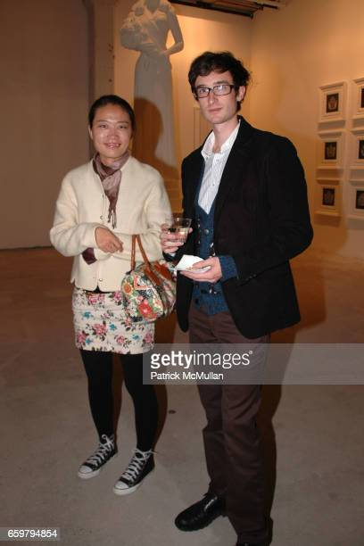 Emma Hicks and Bradley Hicks attend RACHEL HOVNANIAN opening reception POWER BURDEN OF BEAUTY at Jason McCoy Gallery on November 5 2009 in New York...