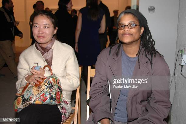 Emma Hicks and Melissa Fowler attend RACHEL HOVNANIAN opening reception POWER & BURDEN OF BEAUTY at Jason McCoy Gallery on November 5, 2009 in New...