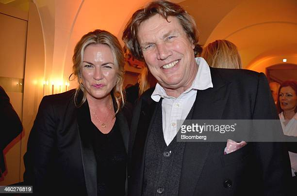 Emma Hill creative director of Mulberry Group Plc left and jewelry designer Theo Fennell attend the Walpole Awards at the Whitehall Banqueting House...