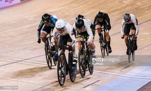 Emma Hinze ,Stephanie Morton ,Hyejin Lee - Keirin during the UCI 2020 Track Cycling World Championships, in Berlin, Germany, on March 1, 2020.