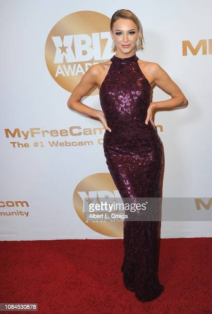 Emma Hix arrives for the 2019 XBiz Awards held at The Westin Bonaventure Hotel Suites on January 17 2019 in Los Angeles California
