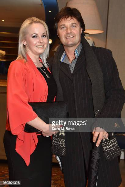 Emma Holoway and Mike Holoway attend the press matinee after party for Brief Encounter at The Haymarket Hotel on March 11 2018 in London England