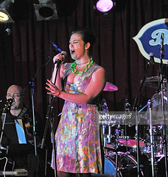 Emma Hunton attends Rockers on Broadway Celebrating The 60's at BB King Blues Club Grill on November 2 2009 in New York City