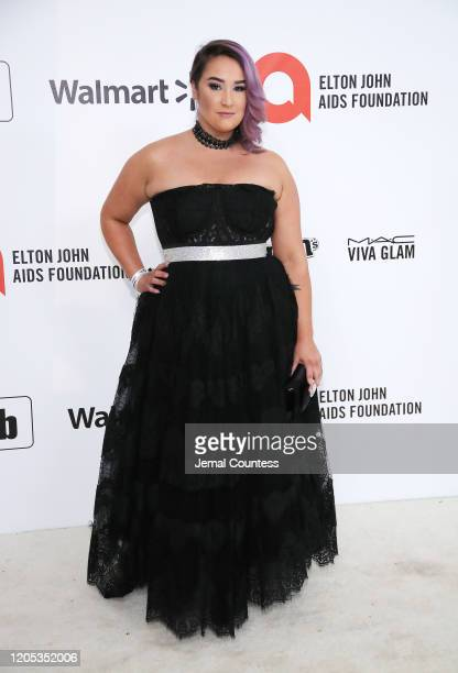 Emma Hunton attends the 28th Annual Elton John AIDS Foundation Academy Awards Viewing Party sponsored by IMDb, Neuro Drinks and Walmart on February...