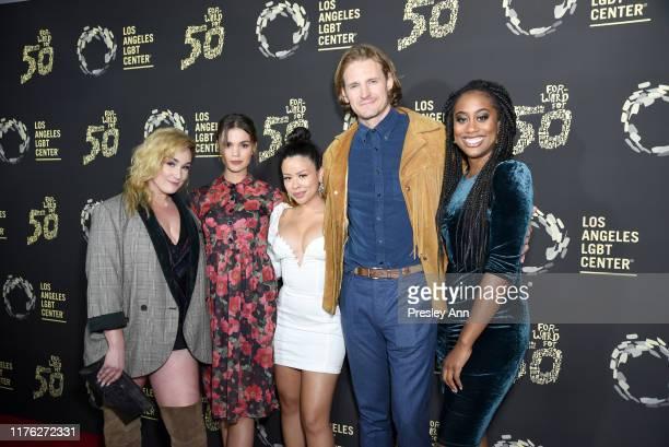 Emma Hunton Maia Mitchell Cierra Ramirez Josh Pence and Zuri Adele attend Los Angeles LGBT Center Celebrates 50th Anniversary With Hearts Of Gold...