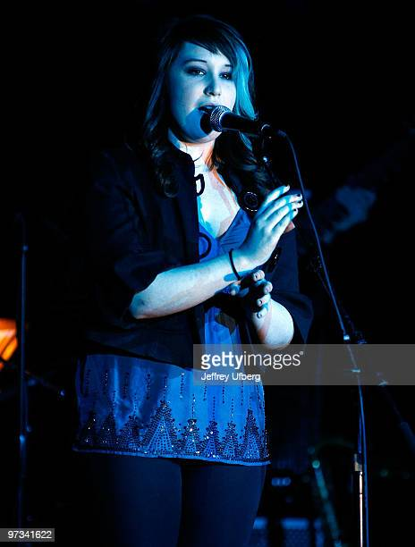 Emma Hunton performs during Rockers On Broadway Rocks To Rebuild at BB Kings on March 1 2010 in New York City