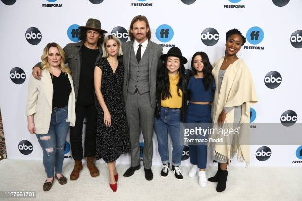 Emma Hunton Tommy Martinez Maia Mitchell Josh Pence Sherry Cola Cierra Ramirez and Zuri Adele attend the Disney ABC Television Hosts TCA Winter Press...
