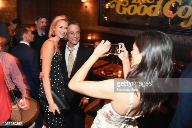Emma Ishta and Tony Danza attend the after party for the New York Premiere of Netflix's Original Series The Good Cop at Casa Nonna on September 21...