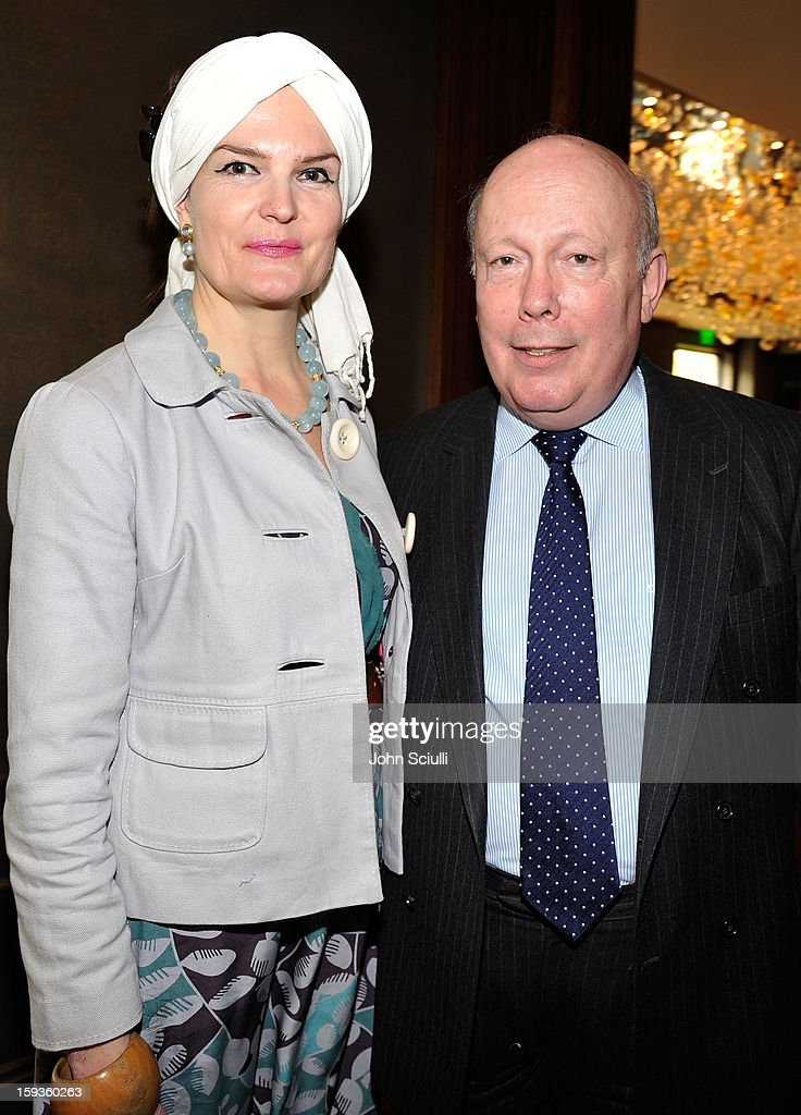 Emma Joy Kitchener and Julian Fellowes attend a Golden Globe lunch hosted by BritWeek chairman Bob Peirce honoring Julian Fellowes, Gareth Neame and Michelle Dockery at Four Seasons Hotel Los Angeles at Beverly Hills on January 12, 2013 in Beverly Hills, California.