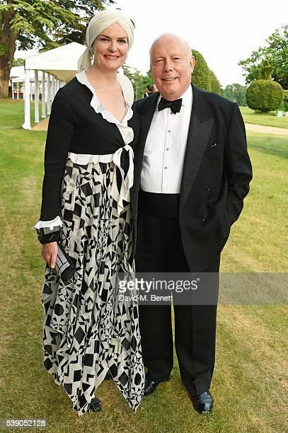 Emma Joy Kitchener and Lord Julian Fellowes attend the Duke of Edinburgh Award 60th Anniversary Diamonds are Forever Gala at Stoke Park on June 9...