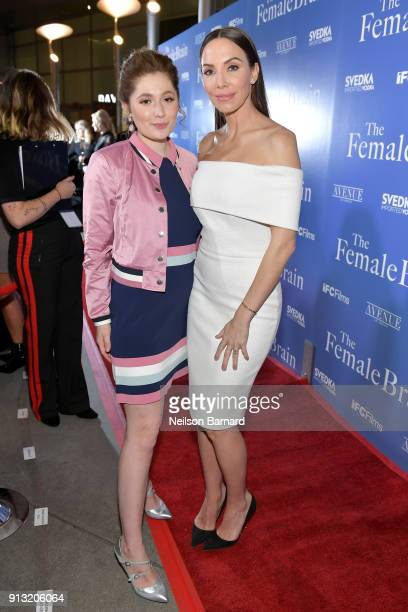 Emma Kenney and Whitney Cummings attend the premiere of IFC Films' 'The Female Brain' at ArcLight Hollywood on February 1 2018 in Hollywood California