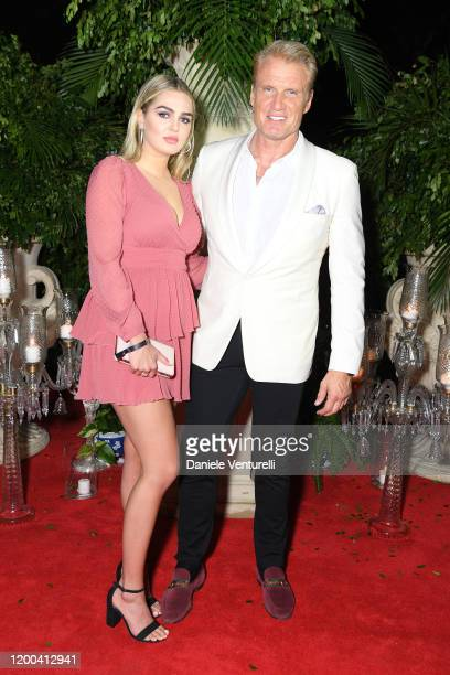 Emma Krokdal and Dolph Lundgren attend Cana Dorada Film & Music Festival - Casino Night: TV Shows Night on January 18, 2020 in Punta Cana, Dominican...