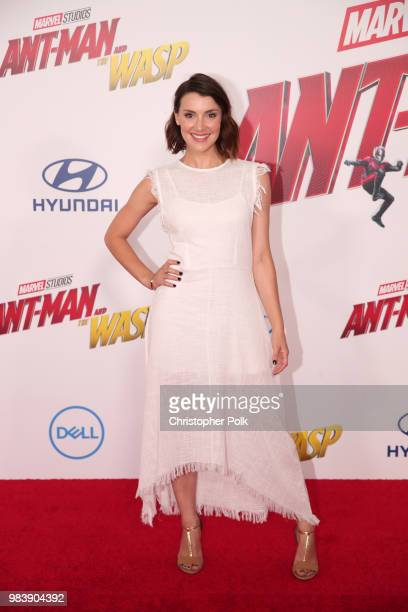 Emma Lahana attends the premiere of Disney And Marvel's AntMan And The Wasp on June 25 2018 in Los Angeles California