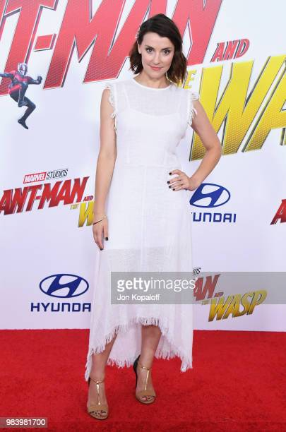 Emma Lahana attends the premiere of Disney And Marvel's AntMan And The Wasp at the El Capitan Theater on June 25 2018 in Hollywood California