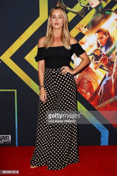 Emma Lane arrives for the Australian Premiere of Thor Ragnarok on October 13 2017 in Gold Coast Australia