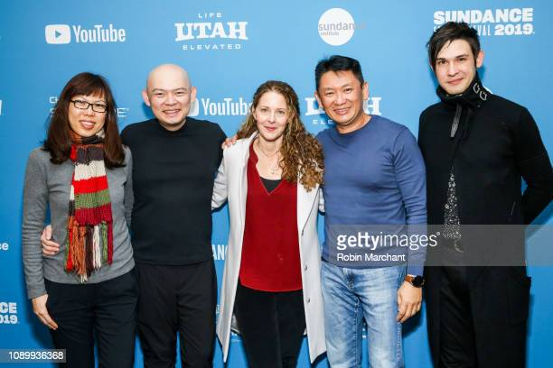 Emma Lee Peter Wong Debra Eisenstadt Johnny Chang and Timur Bekbosunov attend the 'Imaginary Order' Premiere during the at Library Center Theater on...