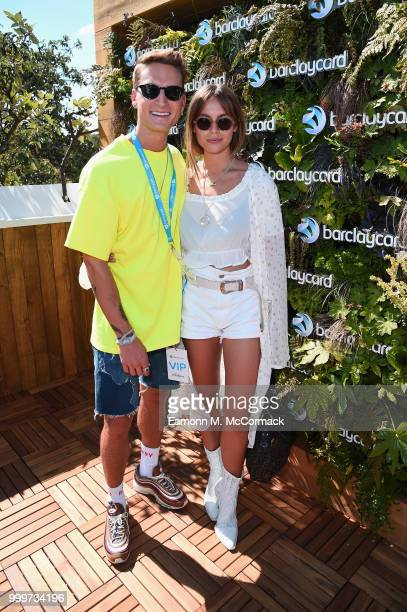 Emma Louise Connolly and Oliver Proudlock attends as Barclaycard present British Summer Time Hyde Park at Hyde Park on July 15 2018 in London England
