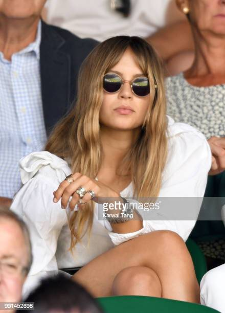 Emma Louise Connolly attends day three of the Wimbledon Tennis Championships at the All England Lawn Tennis and Croquet Club on July 4 2018 in London...