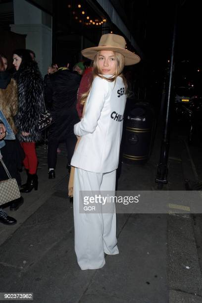 Emma Louise Connolly attends the TopMan party at Mortimer House during London Fashion Week Men's January 2018 on January 7 2018 in London England