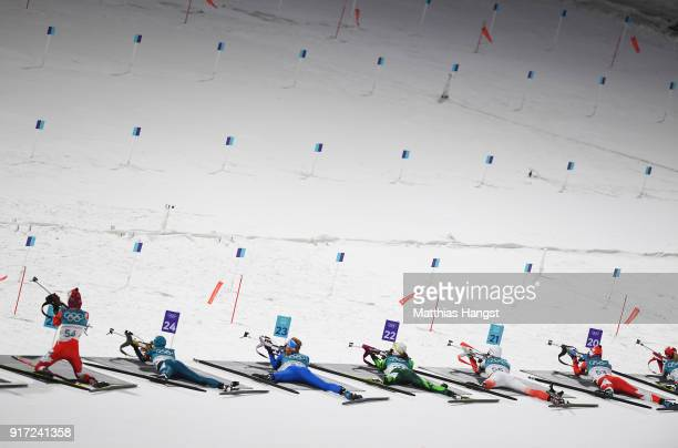 Emma Lunder of Canada Tiril Eckhoff of Norway Jessica Jislova of the Czech Republic Johanna Talihaerm of Estonia Denise Herrmann of Germany Tatiana...