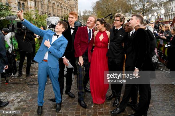 Emma Mackey and Alistair Petrie attend the Our Planet global premiere at Natural History Museum on April 04 2019 in London England