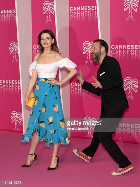 Emma Mackey and Baran Bo Odar attends day four of the 2nd Canneseries International Series Festival on April 08 2019 in Cannes France