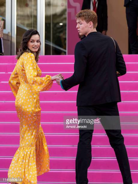 Emma Mackey and Dan Whitlam attends day five of the 2nd Canneseries International Series Festival on April 09 2019 in Cannes France